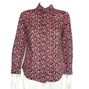 J. Crew LIBERTY OF LONDON Art Fabric Tuxedo Top 2